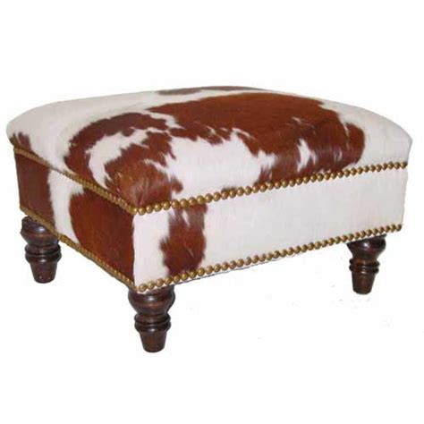 Cowhide Ottoman For Sale - cowhide square ottoman ottomans and benches accent