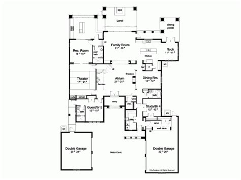 floor plan with courtyard in middle of the house floor plans with courtyards in the middle gurus floor