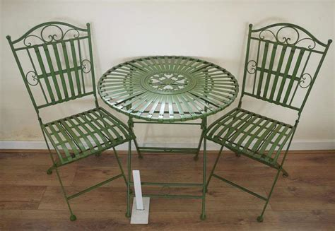 wrought iron garden table antique bistro chairs antique furniture