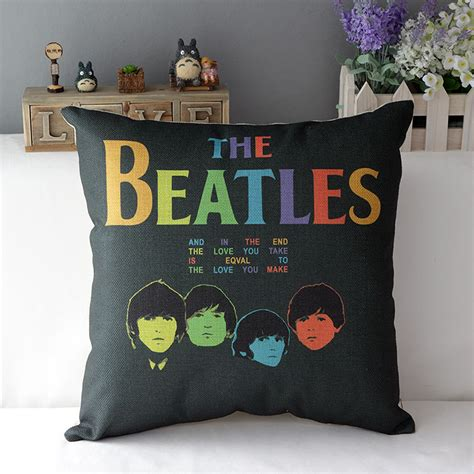 beatles home decor beatles pillow cover the beatles classic cotton linen