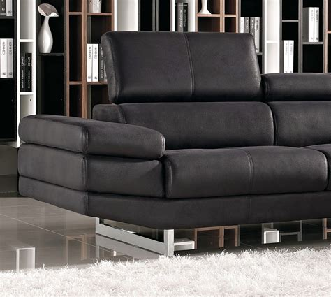 black fabric sofa 1166a modern black fabric sectional sofa