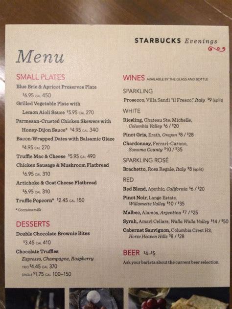 and bucks menu starbucks menu images search