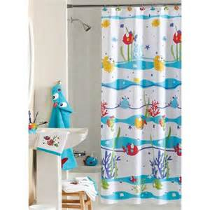 Walmart Kids Bathroom - mainstays something s fishy shower curtain