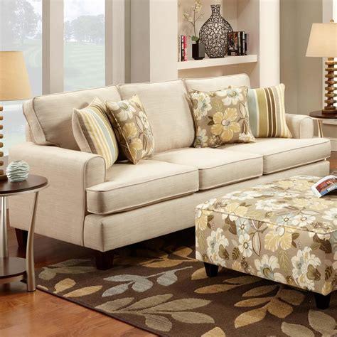 marlo ivory sofa  fusion furniture sku