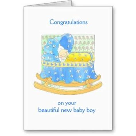 Congratulations On Your New Baby Card Templates by Note Cards And New Baby Boy Congratulations Greeting Card