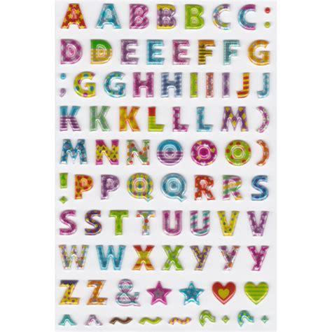 stickers lettere stickers lettres majuscules multicolores majolo