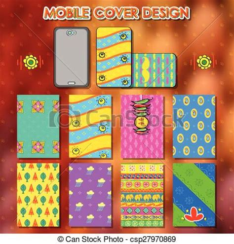 design mobile cover india clip art vector of indian kitsch style mobile cover