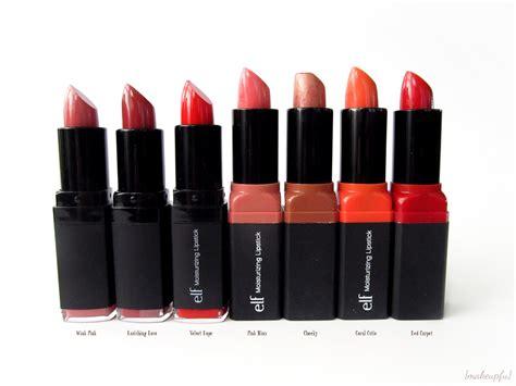 E L F Moisturizing Lipstick Orange e l f studio moisturizing lipsticks review makeupfu