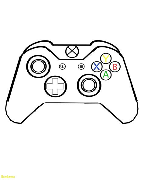 Coloring Page Xbox Controller by Coloring Pages Xbox Clipart Library