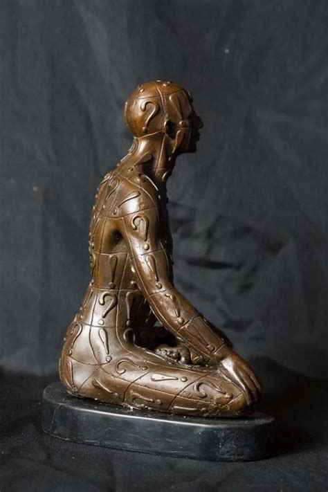 bronze casting yoga lotus pose male figurine statue yogi