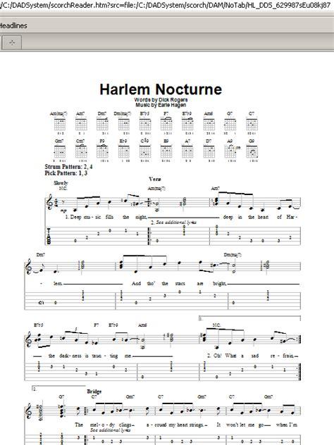 Tab El Harlem Nocturne Partition Par Rogers Tablature