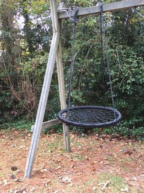 large round swing large hanging web rope round swing for porch yard tree