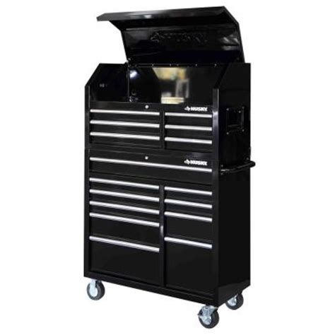 Husky Tool Chest Drawer Liners by Husky 41 In 16 Drawer Tool Chest And Rolling Tool Cabinet