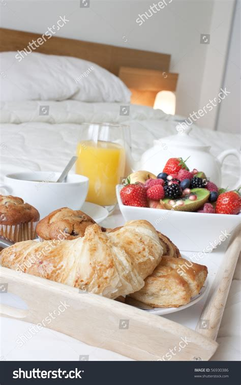 how to set up a bed and breakfast breakfast tray set up on a bed with healthy foods and