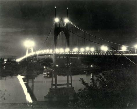 Portland Records Request Center 1935 St Johns Bridge Lighted At