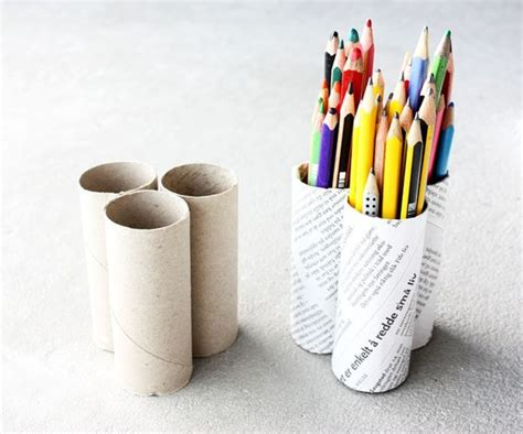 How To Make A Pencil Holder With Paper - back to school 16 awesome diy pencil holder designs