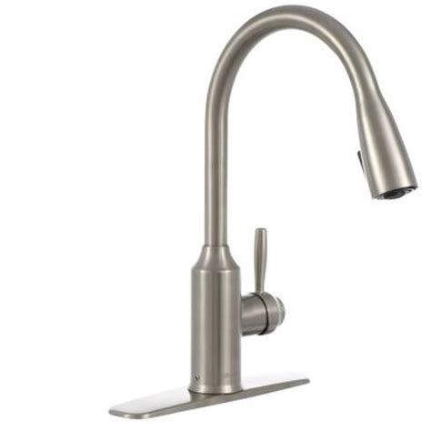 glacier bay pull out kitchen faucet glacier bay invee single handle pull sprayer kitchen faucet in stainless steel fp4a4080ss