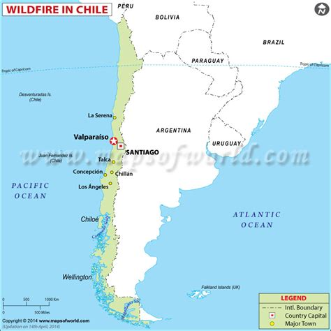 chile location on world map chile wildfire left 12 dead and 2 000 homes consumed