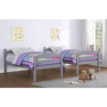 Sturdy Wood Bunk Beds Product Reviews Buy Sturdy Mainstays Wood Bunk Bed Finishes Gray