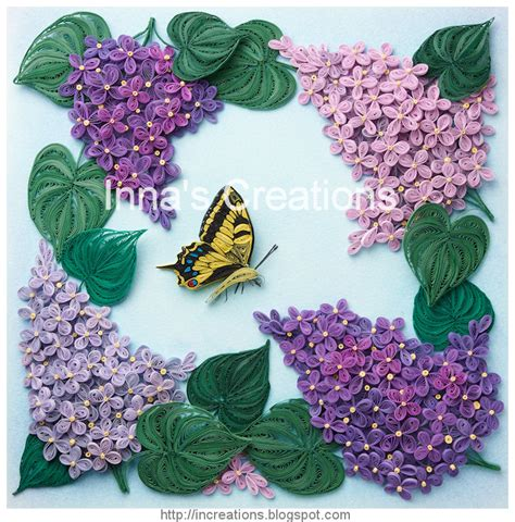 flower pattern for quilling free 3d quilling patterns innas creations lilac flowers