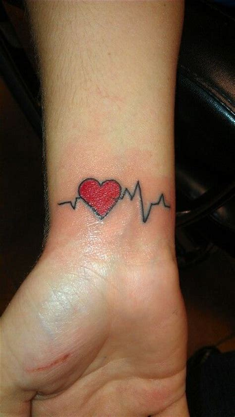 heart beat rate tattoo heart beat tattoo tattoos pinterest heart beat and