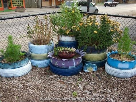 Tire Planter Ideas by Used Tires Recycling Ideas Recycled Things