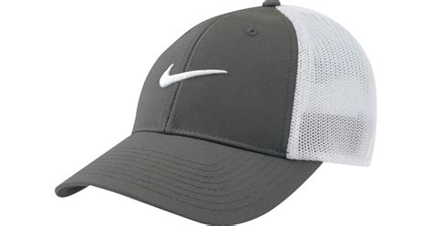 Trucker Hat Jaring Nike Golf Imbong lyst nike flex fit golf hat in gray for