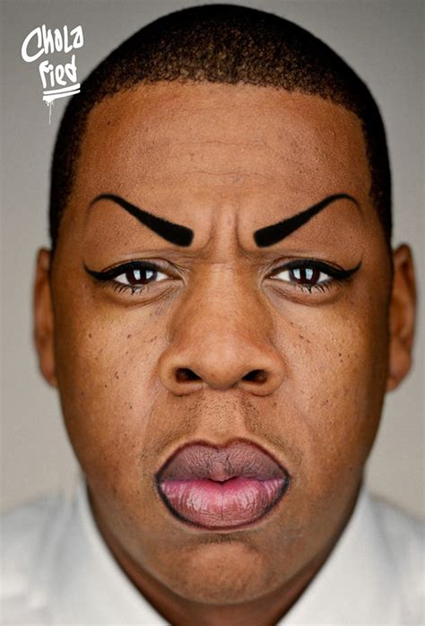 tattoo eyebrows gang cholafied turns celebrities into mexican gang divas