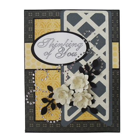 pazzle craft room card with rhinestone flourish pazzles craft room