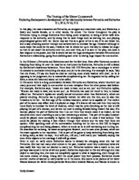 Taming Of The Shrew Essay by College Essays College Application Essays The Taming Of The Shrew Essay