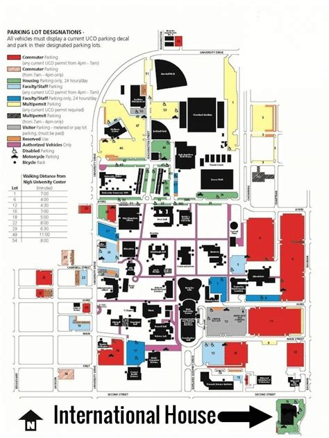 uco parking map uco location