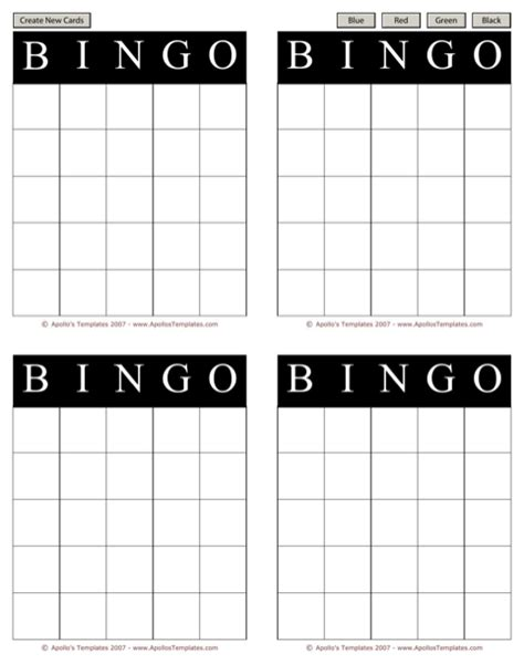 bingo card template excel bingo card template for free formtemplate