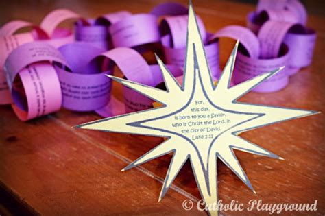 printable advent calendar chain paper chain advent calendar catholic playground
