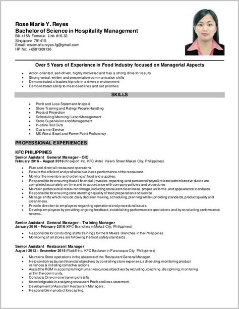 resume sle for application pdf philippines application letter for kfc 28 images exle resume sle resume kfc cook application form