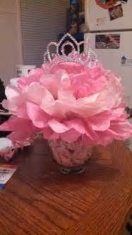 princess themed centerpieces for our baby shower tutu and tiara baby shower pinterest