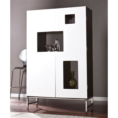 modern white bar cabinet southern enterprises shadowbox wine bar cabinet home