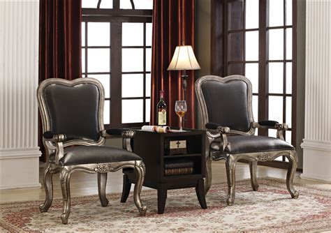 Accent Chair And Table Set Chantelle 3 Accent Chair And Table Set By Acme 96204 3