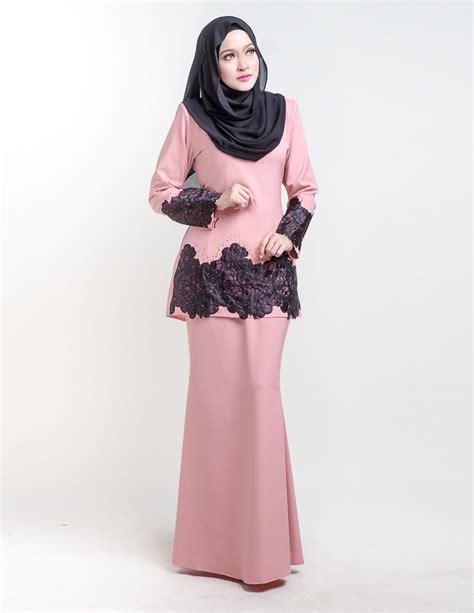 Organza Baju Kurung baju kurung moden organza pink