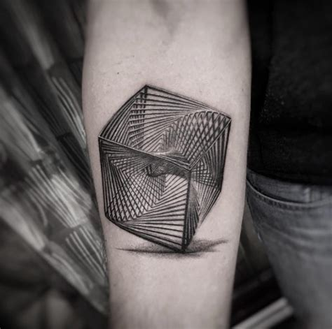 cube tattoo 40 geometric designs for and tattooblend