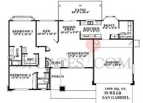 h8510 san gabriel floorplan 1490 sq ft sun city