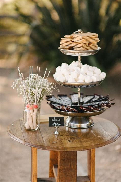trending  sweet smores bar wedding ideas  fall