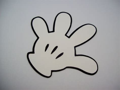 mickey mouse gloves die cuts for card making scrap