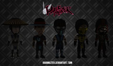 Mortal Kombat Papercraft - chibis papercraft mortal kombat x characters by ravamaster