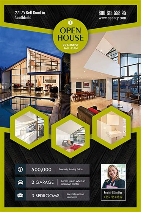 real estate open house flyer template open house real estate free flyer template download for photoshop