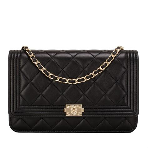 Karpet Mobil 5 In 1 Fashion Chanel chanel black quilted lambskin boy wallet on chain woc gold hardware world s best