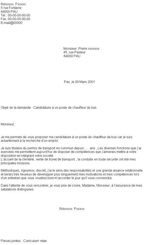 Exemple Lettre De Motivation Barman Débutant lettre de motivation chauffeur de d 195 169 butant gratuit