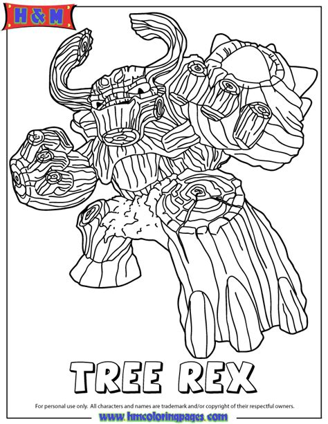coloring page tree rex free coloring pages of skylanders hot head