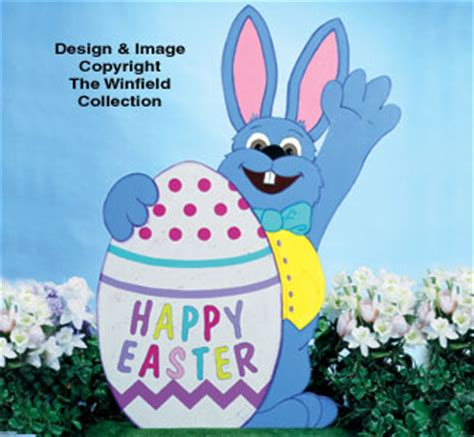 easter small waving bunny woodcraft pattern