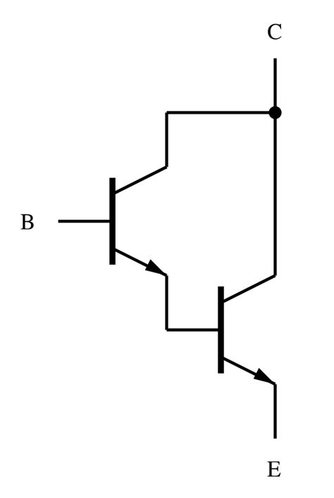 transistor darlington interruttore file darlington pair diagram svg wikimedia commons