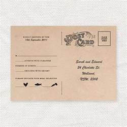 Rsvp Postcard Template by Vintage Style Wedding Rsvp Postcard Diy Printable File